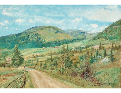 Slavné obrazy XVI-363 Carl Johansson - Letní krajina
