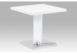 AT-4001 WT, jídelní stůl 80x80x75cm, nerez / bílá