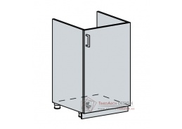 VICTORIE, dolní skříňka 1-dveřová pod dřez 50DZ, bílá / bílý santál