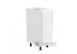 AURORA, dolní kuchyňská skříňka D30 - pravá, bílá / bílý lesk