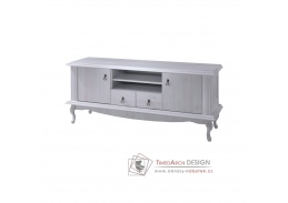 VILAR DA14, televizní stolek, borovice bílá