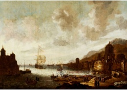 A-566 Abraham van Beerstraten - Holandská loď v exotickém přístavu