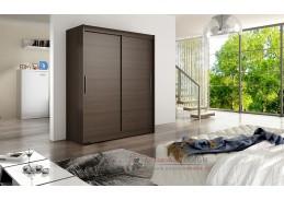 Šatní skříň s posuvnými dveřmi 150cm WESTA I čokoláda