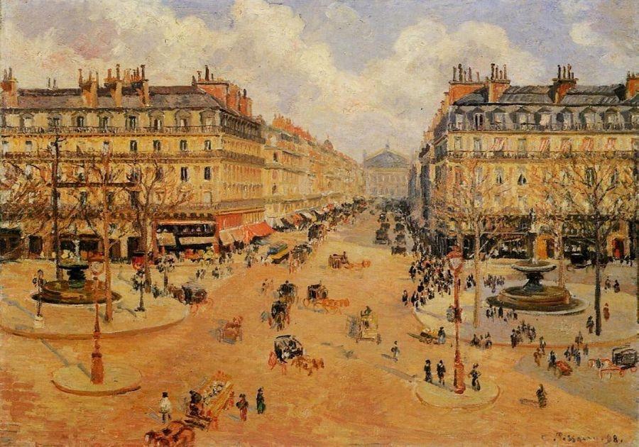 VCP-108 Camille Pissarro - Avenue de l Opera, ranní slunce