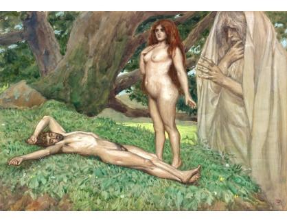 KO IV-32 James Tissot - Bůh tvoří Evu když Adam spí