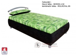 CEYLON, postel - válenda 90x200cm, pevně načalouněná matrace