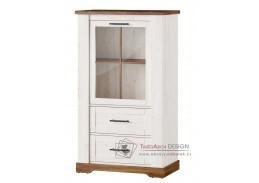 COUNTRY, 14 vitrína 1-dveřová, borovice andersen / dub stirling