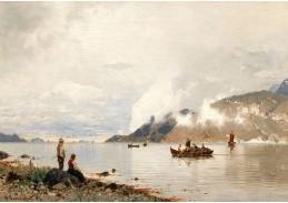 D-9391 Georg Anton Rasmussen - Krajina fjordu s postavami