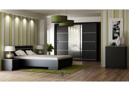 VISTA, ložnicová sestava nábytku, černá