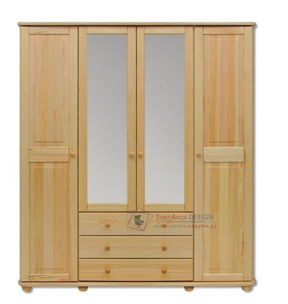 Šatní skříň 4-dveřová se zrcadlem 165cm FS-130