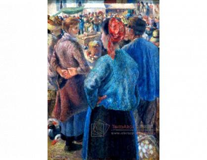 VCP-475 Camille Pissarro - Drůbeží trh v Pontoise
