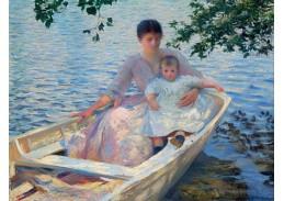 SO XII-104 Edmund Charles Tarbell - Matka a dítě na loďce