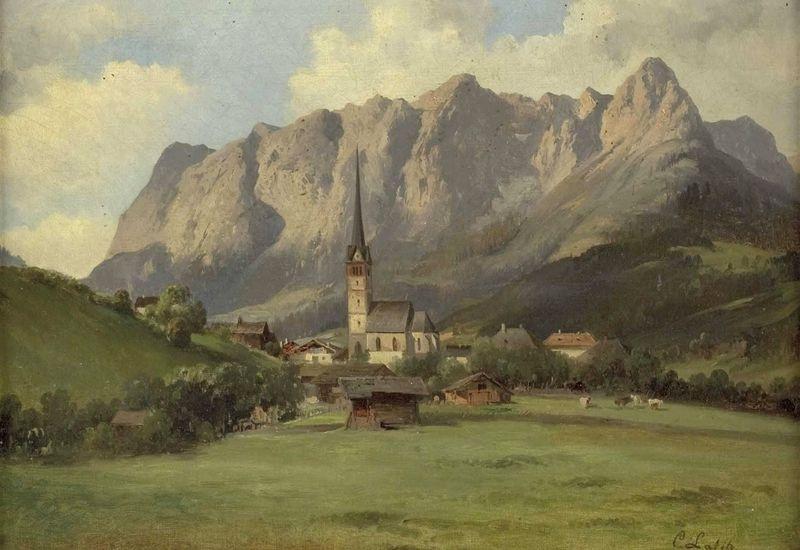 Slavné obrazy XIII-106 Carl Lafite - Bischofshofen
