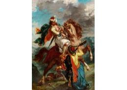 D-7832 Eugene Delacroix - Turek se vzdává řeckému jezdci