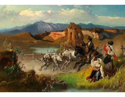 Slavné obrazy II-DDSO-464 Anton Romako - Pastýř dobytka v Sedia del Diavolo