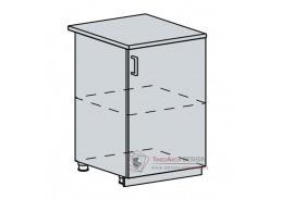 TECHNO, dolní skříňka 1-dveřová 60D1D, bílá / oranžová metalic