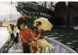 R16-105 James Tissot - Přístav Portsmouth