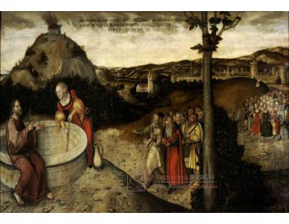 VlCR-190 Lucas Cranach - Kristus a Samaritánka u Jákobovy studny