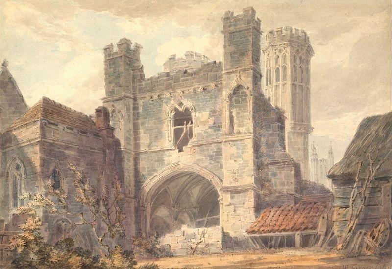 Joseph Mallord William Turner - Brána svatého Augustína v Canterbury