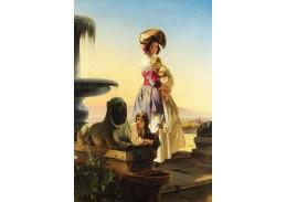 Slavné obrazy VII-131 Carl Timoleon von Neff - Italka s dětmi