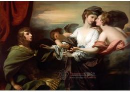 Slavné obrazy XI-103 Benjamin West - Helena je přinášena Parisovi
