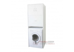 NATALI 09, skříňka nad pračku hluboká, bílá