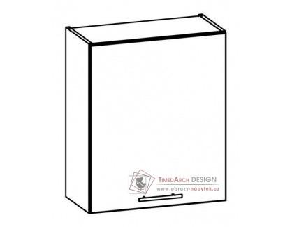 TIFFANY, kuchyňská horní skříňka T8/G60 bílá / bílý lesk