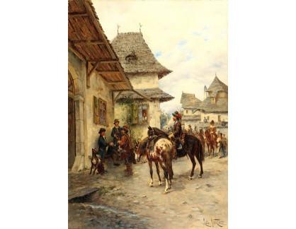 Slavné obrazy I-DDSO-269 Ludwig Gedlek - Odpočívající jezdci