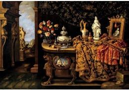 Slavné obrazy X-479 Giovanni Battista Manerius - Pět smyslů