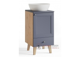 POMEROY, dolní koupelnová skříňka pod umyvadlo DUM40S/1 P/L, dub artisan / výběr provedení