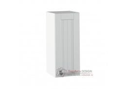 JULIA 02, horní skříňka 1-dveřová, bílá / světle šedá