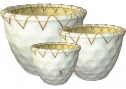 Axin Trading Keramický obal vzor 1877 - set 3 kusy