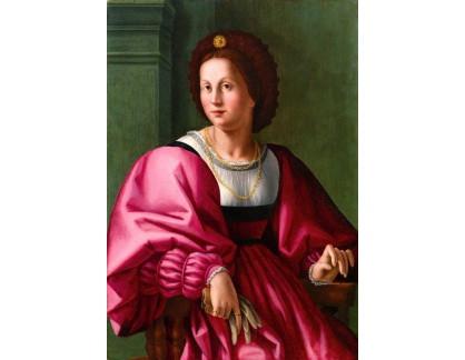 Slavné obrazy I-DDSO-200 Jacopo Foschi - Ženský portrét