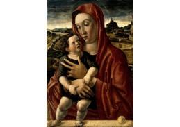 Slavné obrazy VII-106 Giovanni Bellini - Madonna s dítětem