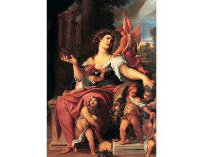 Krásné obrazy II-352 Ludovico Carracci - Alegorie prozřetelnosti