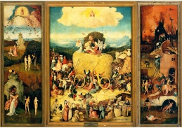 D-6320 Hieronymus Bosch - Triptych vozy sena