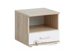 EMIO 05, noční stolek, dub sonoma / bílá