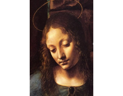 R1-104 Leonardo da Vinci - Madonna ve skalách, detail