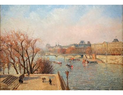 VCP-445 Camille Pissarro - Louvre v zimním slunci