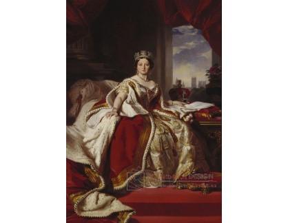 PORT-171 Franz Xavier Winterhalter - Portrét královny Viktorie v korunovačních šatech