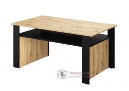TOPRI 07, konferenční stolek 115x65cm, dub artisan / černá