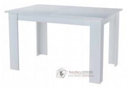KONGO, jídelní rozkládací stůl 120-170x80cm, bílá