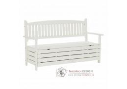 AMULA, zahradní lavička, bílá