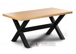 LOFT L12 IX, konferenční stolek, černá / dub