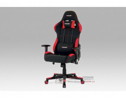 KA-F02 RED, kancelářská židle, látka černá + červená