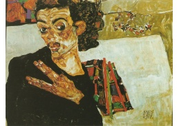 VES 11 Egon Schiele - Autoportrét