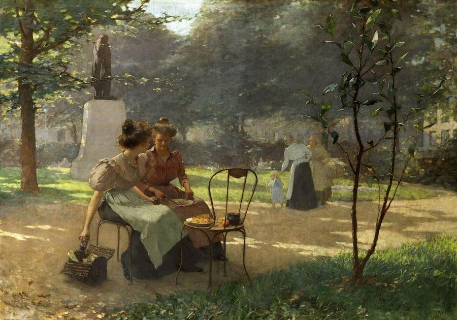 VF106 Albert Cresswell - Dvě mladé ženy v parku