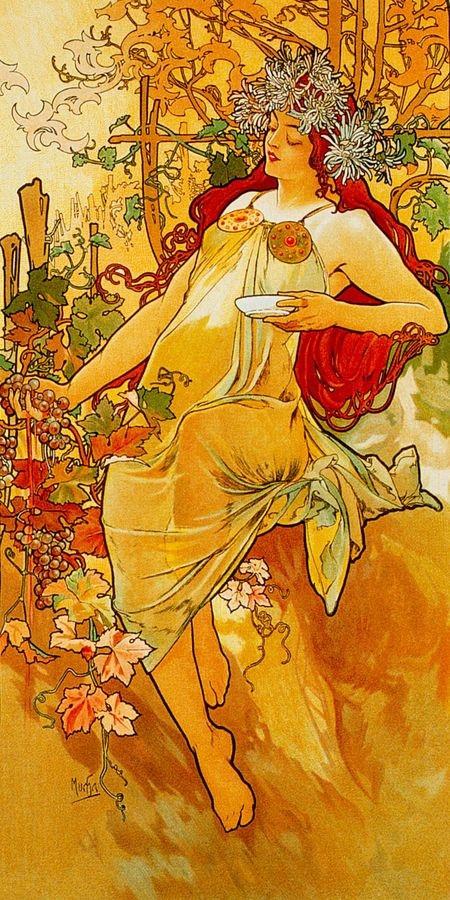 Obraz VAM-104 Alfons Mucha - Autumn