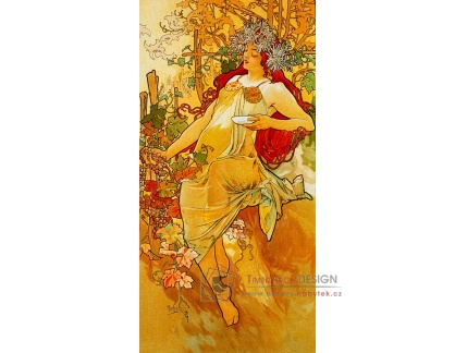 VAM104 Alfons Mucha - Autumn