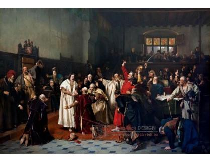 VCM 395 Václav Brožík - Volba krále Jiřího z Poděbrad na Staroměstské radnici 2 března 1458